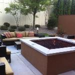 nice place to relax by the outdoor fire in the Courtyard