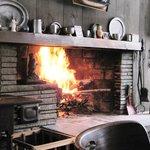 Diningroom- fireplace