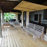 The spacious terrace