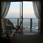 View via the balcony......