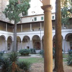 Courtyard adjoining and cloisters