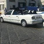 We took a bus up to Anacapri and took thsi taxi down.