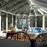 The beautiful conservatory for breakfast