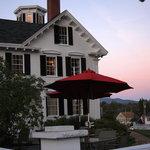 An evening shot of Coe House Restaurant