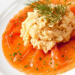 Fine Quality Smoked Salmon and Scrambled Eggs