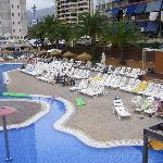 pool area from the sun terrace