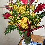 One of Jane's amazing floral arrangements