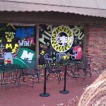 Tellers front window decorated for MU 2011 Homecoming
