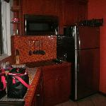 Kitchen in the Deluxe Room