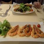 PRAWNS FLAMBED WITH PRUNES