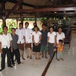 The wonderful staff who took such good care of us