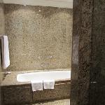 Beautiful granite bathroom with huge soaking tub!