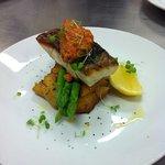panfried fish at pool terrace