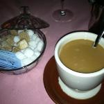 coffee with brown sugar cubes was an unexpected treat.