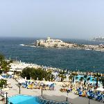 Pool view & sea view.