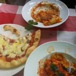 pumpkin ravioli, gnocchi and pizza