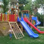 Playground at rear, great