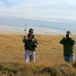 Conservation Rangers Radio-tracking Wildlife