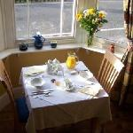 Breakfast in the sunny dining room