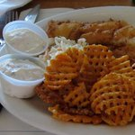 Fish and sweet potato chips at Chapin's