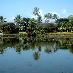 A view of the in-resort lagoon