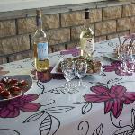 Apéritif de la table d'hôtes