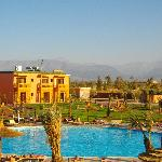 The Atlas Mountains from our balcony
