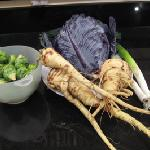 tasty veg on the allotment