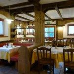 sala da pranzo del rifugio Carlettini