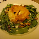 goats cheese in filo pastry