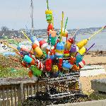 Buoys on Pier in Provincetown