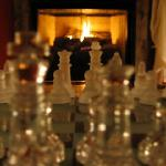Chess by the fire place