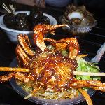 crab on a stick at He Fang Street