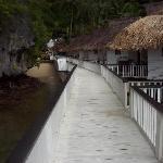 the pier facing toward the beach