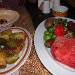 Desserts au restaurant à la carte turc