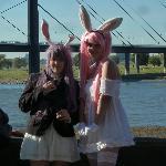 Kostümshow der Jungend beim Japanfest