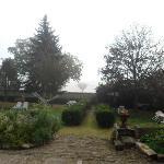 La casa tiene un jardin bien lindo
