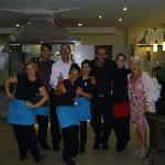 the most hard working +friendly Staff in Lanzarote (La Brasa Tias) will even teach you some  spa