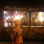 Streetside view of Remedy Diner