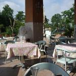 Hotel outdoor dining area