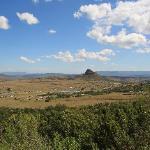 Blick von der Lodge auf Isandlwana