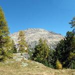 Blick vom Chünetta-Aussichtspunkt zum Morteratsch-Gletscher