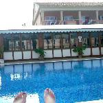 Pool side veiw of restaurant