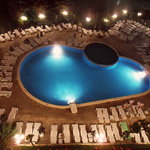 swimming-pool by night