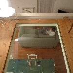 glass floor from the attic