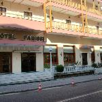 Hotel Famissi is located at one end of the village on the main street.
