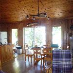 Inside the Doe cottage