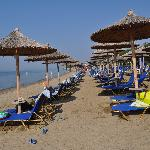Organised Beach-Sunbeds-Umbrelas