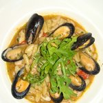 pasta, white beans and mussels