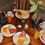 Breakfast serve in our Villa